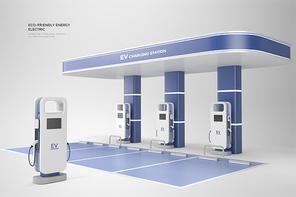 친환경 에너지 전기차 충전소