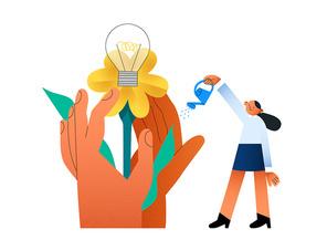 ESG 비즈니스 스타트업 성장과 협력 관련 시리즈 벡터 일러스트