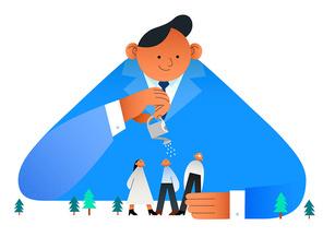 ESG 비즈니스 스타트업 인물 성장 관련 시리즈 벡터 일러스트
