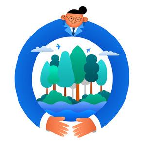 ESG 비즈니스 스타트업 친환경 기업 시리즈 벡터 일러스트