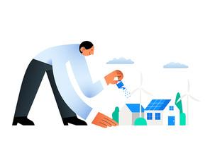 ESG 비즈니스 스타트업 친환경 기업 관련 시리즈 벡터 일러스트