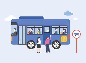 대중교통 이벤트 카드 혜택 시리즈 벡터 이미지