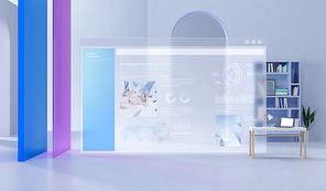 3d 공간과 투명한 디바이스