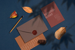 가을 감성의 편지 배경