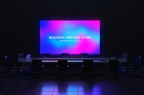 프레젠테이션 3D 비즈니스 회의실