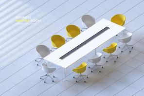 아이소매틱 3D 비즈니스 회의실