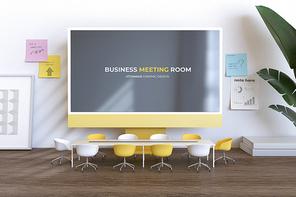 재택근무 책상위의 온택트 회의실