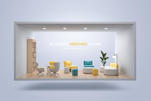 캐주얼한 인테리어의 회의 공간