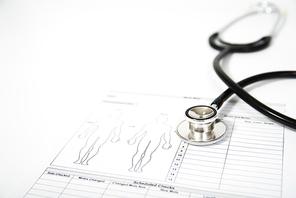 진료차트, 청진기, 의료 컨셉트