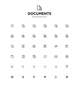 모노톤아이콘_documents