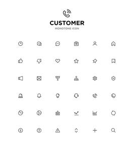 모노톤아이콘_customer
