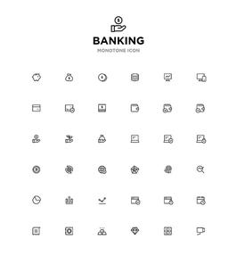 모노톤아이콘_banking