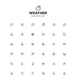 모노톤아이콘_weather