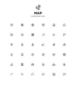 모노톤아이콘_map