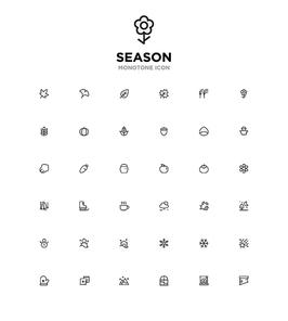 모노톤아이콘_season