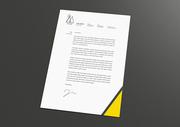 비즈니스 편지지 디자인
