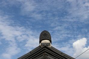 기와 지붕 끝