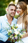 Happy spouses enjoying their honeymoon