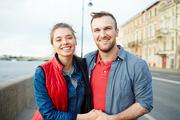 Young tourists having romantic journey