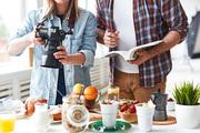 Professional photographer shooting food for advert