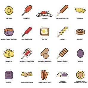 south korea food icons