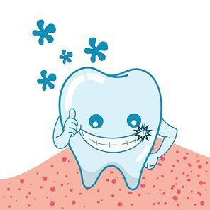 shining tooth