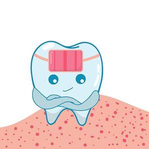 tooth with braces