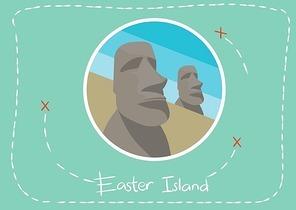 moai stone statues in easter island