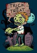 trick or treat zombie