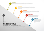 Colorful vector infographic diagonal timeline report template with bubbles - light version