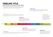 Vector Infographic Company Milestones glassy Timeline Template