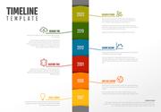Vector Infographic Company Milestones Timeline Vertical Template