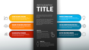 Vector multipurpose Infographic template with six elements and the title with description in the midle