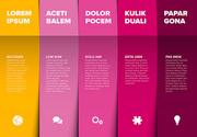 Vector multipurpose Infographic template made from five color content blocks