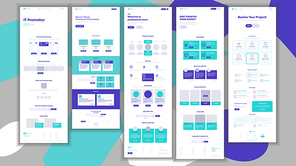 Main Web Page Design Vector. Website Business Screen. Landing Template. Innovation Idea. Engineer Device. Mining Money. Progress Report. Illustration