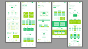 Website Template Vector. Page Business Project. Shopping Online Landing Web Page. Manager Meeting. Corporate Concept. Technical Online Support. Design Evolution System. Illustration