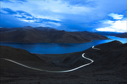 night scene,tibetan district,xizang,Travel.,Emotions.,yang zhuoyong,yangwu,railway track,Tibetan style photo contest,outdoors,The ocean.,The sea.,Nature.,At night.,The beach.,dawn,shoreline,Volcano.,Daylight.,island
