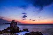 scenery,canon,dalian,color,dimming mirror,The sea.,The ocean.,At night.,The beach.,shoreline,seascape,The lighthouse.,The sky.,Travel.,The sun.,landscape,rock,outdoors,island,Surfing.
