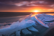 Sunrise.,Of course.,scenery,Travel.,wide angle,Orange.,ice,HDR,nikon,color,It's frosted.,Nature.,Cold.,outdoors,iceberg,The ocean.,The beach.,Frozen.,At night.