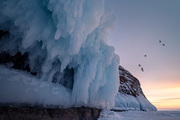 snowy mountain,scenery,Travel.,lake,ice,snowscape,russia,xiangguang,Lake Baikal l.,landscape,iceberg,Frozen.,outdoors,Nature.,It's frosted.,frost,Daylight.,The sky.,beautiful sceneries,ascend