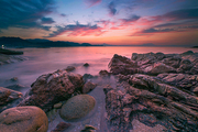scenery,canon,Long exposure.,shenzhen,dawn,The beach.,The ocean.,The sky.,shoreline,rock,Travel.,seascape,At night.,Nature.,No one.,The sun.,twilight,light,beautiful sceneries,reflex