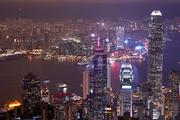 홍콩, 야경, 도시, 풍경
