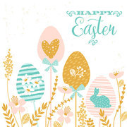 Happy Easter. Vector design for card, poster, flyer and other users.