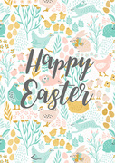 Happy Easter. Vector templates for card, poster, flyer and other users. Design element.