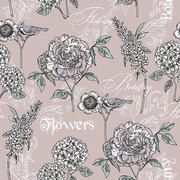 Floral seamless pattern . Trendy hand drawn textures. Modern abstract design for paper, cover, fabric, interior decor and other users.
