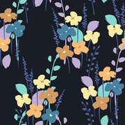 Floral abstract seamless pattern.