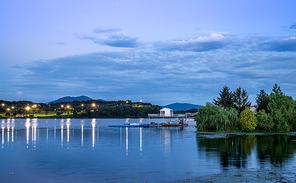 충주 남한강의 야경