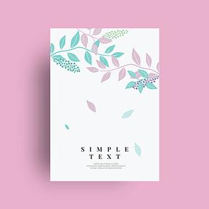 꽃 카드 배경