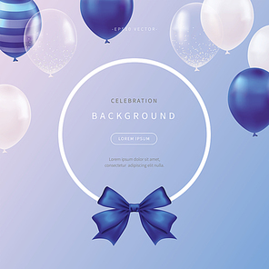 celebration background with soft color balloons