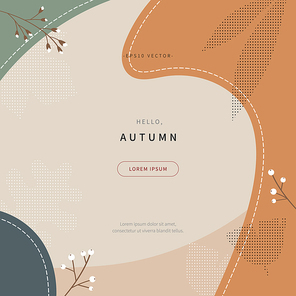 simple scandinavian style background of autumn concept collage